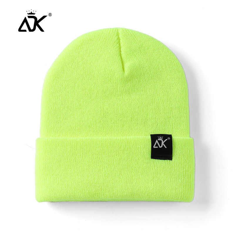 Unisex Topi Rajutan ADK Kategori Cap Wanita Beaines untuk Musim Dingin Bernapas Pria Gorras Sederhana Topi Hangat Solid Kasual Wanita Beanies