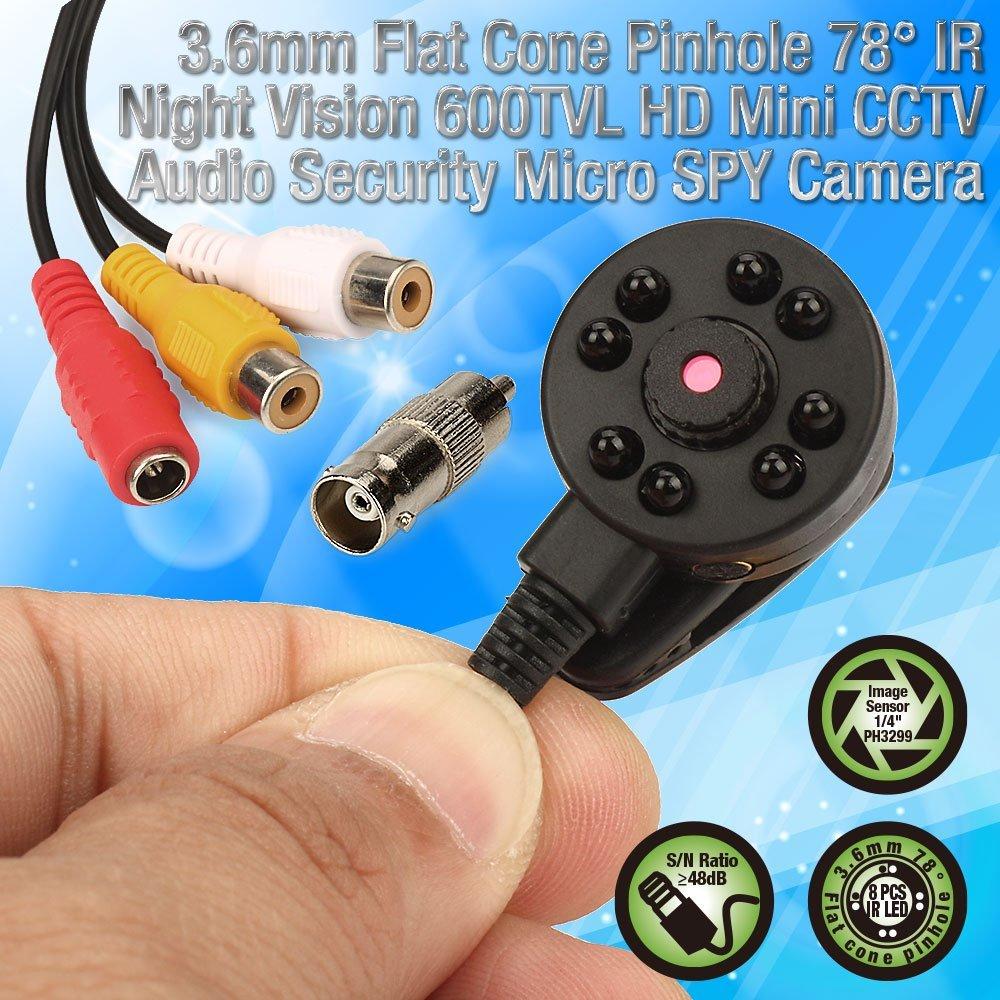 CCTV 1/3 Sony CCD 1000TVL 3,6mm breiter winkel 8 stücke IR LED D/N 90 grad breite Objektiv mini HD Sicherheit Überwachung Kamera-in Überwachungskameras aus Sicherheit und Schutz bei