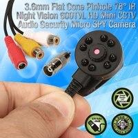 Güvenlik ve Koruma'ten Gözetim Kameraları'de CCTV 1/3 Sony CCD 1000TVL 3.6mm geniş açı 8 adet IR LED D/N 90 derece geniş Lens mini HD güvenlik gözetim kamera