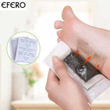 EFERO 20pcs Cleansing Detox Foot Pads Patch Toxins Feet Care Dispel Dampness Improving Sleep Energize Your Body Foot Patches Pad(China)