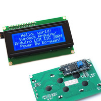 IIC I2C TWI Serial LCD 2004 20x4 Display Shield Blue Backlight For Arduino Free Shipping