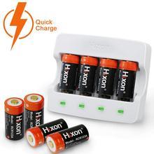 8pcs Battery & Charger RCR123A 700mAh Li ion แบตเตอรี่ที่มีการป้องกันสำหรับ Arlo HD กล้อง & Reolink Argus UL และ FCC