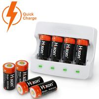 8pcs RCR123A and a Charger for Arlo HD camera& Reolink argus 700mAh 3.7V UL& FCC Li ion cr123a rechargeable Battery