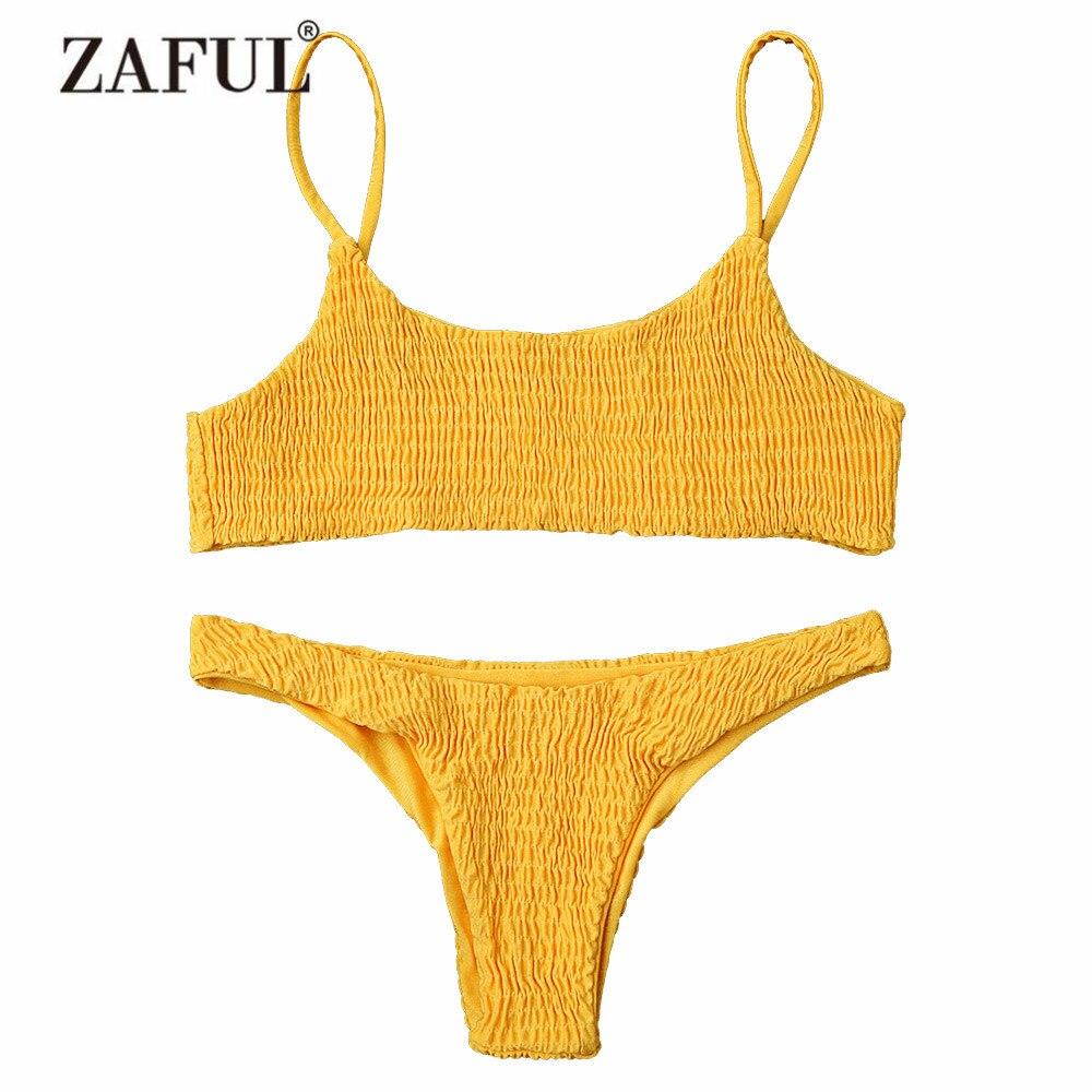 Donne Costumi Da Bagno Bikini Cami ZAFUL Smock Bikini Top e Bottoms ...