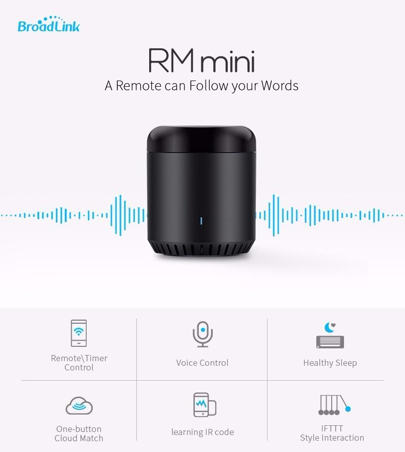 Oryginalny Mini3 Uniwersalny Inteligentny WiFi Broadlink RM/IR/4G Bezprzewodowego Pilota zdalnego sterowania Poprzez IOS Android Inteligentnego Domu automatyki 1