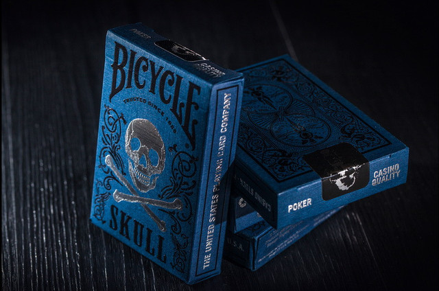1pcs Original Bicycle Cards Luxury Skull Playing Cards Magic Tricks by BOCOPO Playing Card Tricks Poker magic Cards