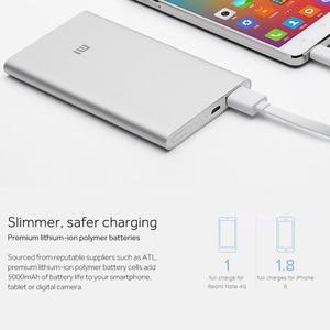 Image 4 - Xiaomi Banco de energía de 5000mAh 2 PLM10ZM, cargador portátil Delgado, Batería Externa de polímero de litio 5000 con funda de silicona