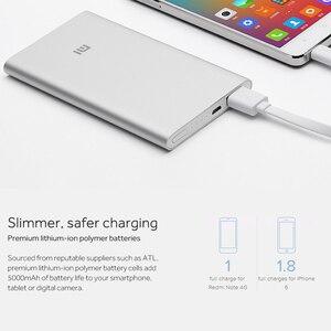 Image 4 - Xiaomi güç kaynağı 5000mAh 2 PLM10ZM taşınabilir şarj cihazı ince xiaomi güç bankası 5000 ı ı ı ı ı ı ı ı ı ı ı ı ı ı ı ı ı ı ı ı polimer harici pil ile silikon kılıf