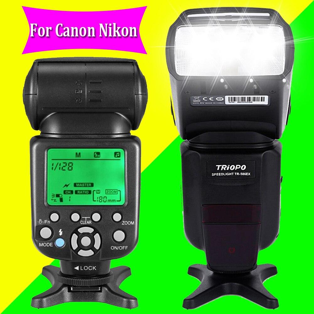Triopo TR-586EX Wireless TTL Flash Speedlite For Canon Nikon DSLR Camera Vs YONGNUO YN565EX YN-565EX YN-565 YN-560 IV JY-680A yongnuo yn 565ex n flash speedlite yn565ex n i ttl light for nikon dslr camera or pixel vertax d17 battery grip for nikon d500