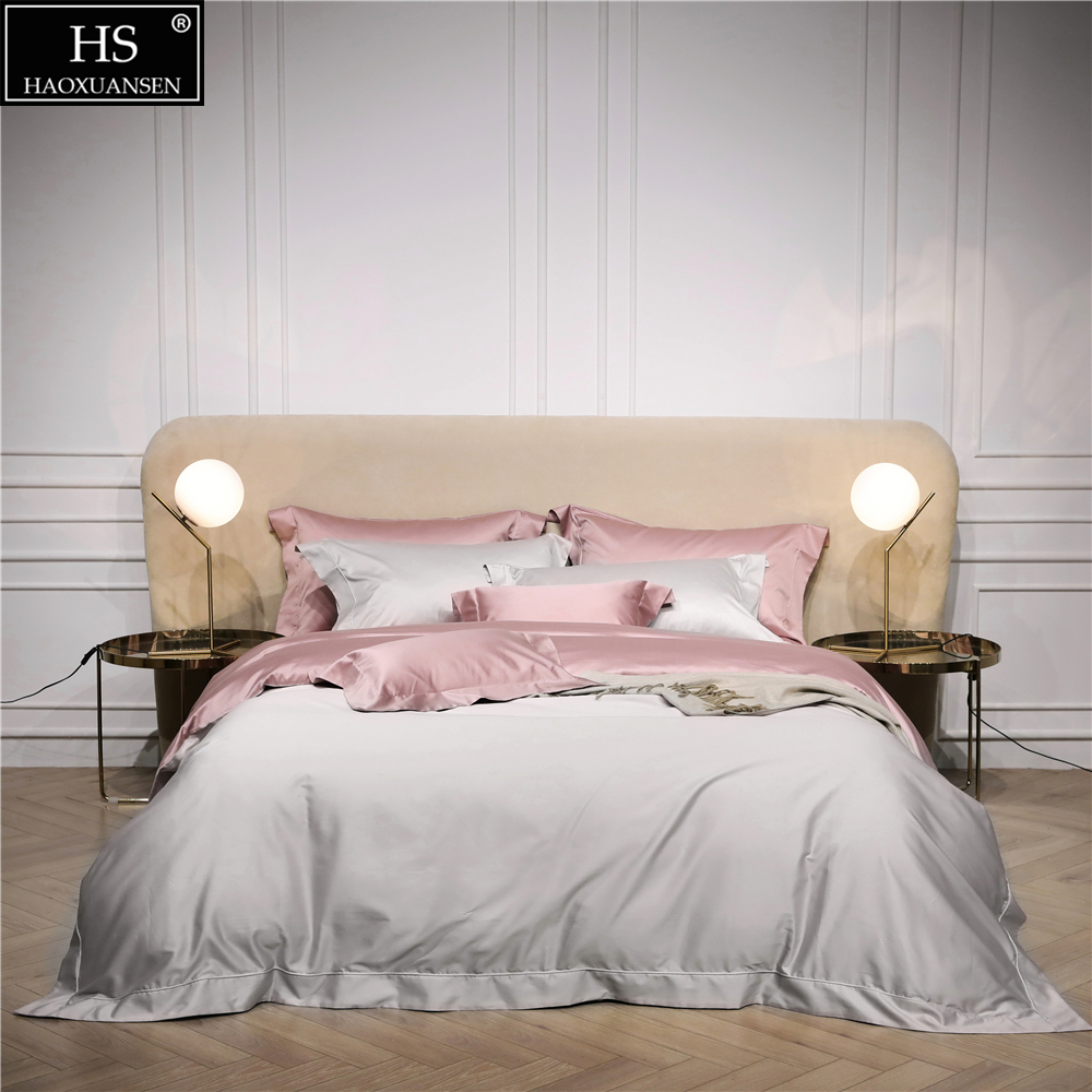 120S Egyptian Cotton Beige Pink Luxury Bedding Set 4Pcs King Queen Bed Sheet Duvet cover Pillowshams Simple Bright Romantic girl120S Egyptian Cotton Beige Pink Luxury Bedding Set 4Pcs King Queen Bed Sheet Duvet cover Pillowshams Simple Bright Romantic girl
