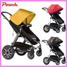 Patent Design High Landscape Luxury Baby Stroller Cart Four Wheels Trolley Can Sit Lie Summer Umbrella