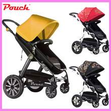 Patent Design High Landscape Luxury Baby Stroller Cart Four Wheels Trolley Can Sit Lie Summer Umbrella Lightweight Folding Pram