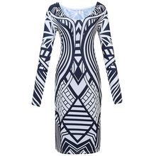Elastic tight  hip Autumn dress big European and American double-sided