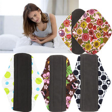 High Quality 1pc Reusable Bamboo Charocoal Washable Menstrual Pad Mama Sanitary Towel Pad Pretty Feminine Hygiene