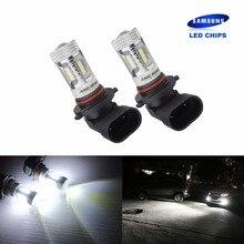 ANGRONG 2x samsung 15 SMD 2835 светодио дный 9006 HB4 лампы высокой Мощность 15 Вт светодио дный туман лампы дневного света DRL белый (CA263x2)