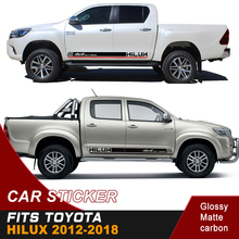 2PC free shipping hilux gradient side stripe graphic Vinyl 4x4 off road decal for TOYOTA HILUX revo and vigo все цены