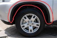 High quality round eyebrow leaf board trim black arc veneer For 2009 2013 Nissan X trail(4pc)