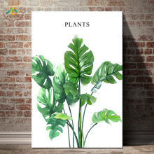 Green Plants Leaf Wall Art HD Prints Canvas Art Painting Picture Prints And Poster Canvas Scroll Painting Nordic Decoration Home цена 2017