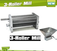 Brand New Barley Crusher Malt Grain 3 Roller Mill for Home brewing 3 Rollers malt mill,grain mill,home brew mill,barley crusher,