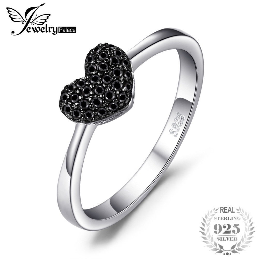 SmykkerPalace Fashion 0.14ct Natural Black Spinel Kærlighed Heart - Smykker - Foto 1
