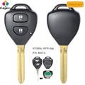 KEYECU удаленный Управление брелок для ключей с 2 кнопки 433 МГц 4D70 чип-брелок для Toyota Yaris 2005 2006 2007 2008 2009 2010 2011 P/N B42TA