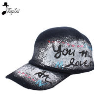 1e761c52ea8 2018 Fashion Baseball Cap For Hiphop Hand Paint Graffiti Casquette Hip Hop  Hat Snapback Caps Woolen