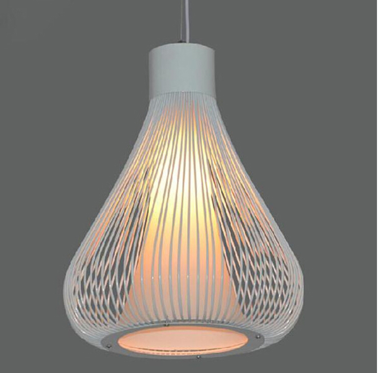 Industrial Cage Pendant Lamps Design American Country Wrought Iron E27 220V Hanging Fixtures Modern Kitchen Dining Room Lighting