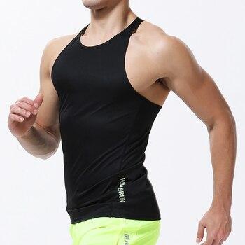 Mens Running Vest 2019 Sports Gym Sleeveless Shirt Summer Compression Tight Tank Men Sport Vest Fitness Training Man Singlet 1