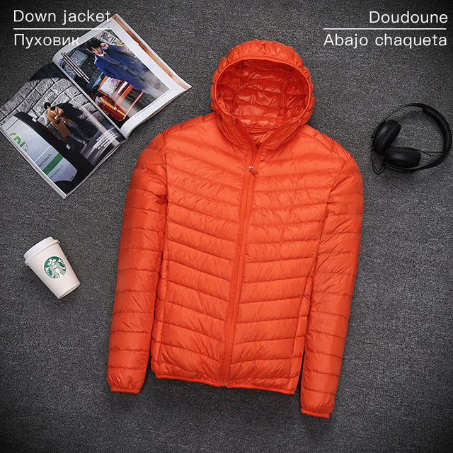 S-7XL famous brand jacket men autumn winter Ultralight jacket male jacket goose feather casual jacket