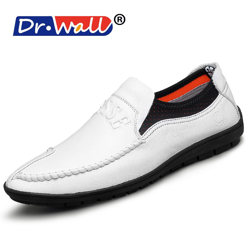 Zapatillas Hombre Dr.wall Brand 2017 Fashion Big Size Full For Grain Leather Men Shoes, Simple Style High Quality Casual Shoes 2017 brand fashion big size 39 44 men loafers high quality men full grain leather shoes luxury soft leather casual men flats