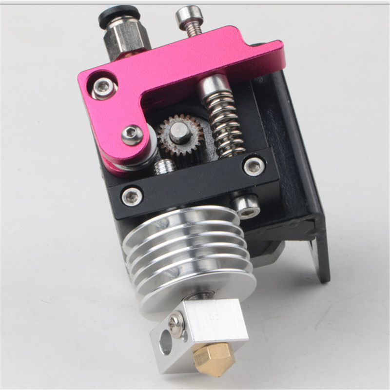 Reprap 3D Printer MK10 extruder full kit Nema 17 stepper motor for 1.75mm direct metal extruder 3d printer mk8 extruder single head full metal compatible with makerbot reprap prusa i3 print sprayer pusher kit for 1 75mm