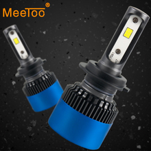 H7 светодио дный лампы H4 светодио дный фар автомобиля 12 В 9005 HB3 HB4 H11 9004 9007 CSP чипы светодио дный лед лампы h8 H9 H1 H3 80 Вт 12000LM светодио дный лампы для автомобилей