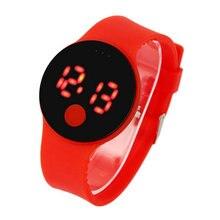 LED marca de moda novos homens de esportes de lazer das senhoras de quartzo relógios pulseira de silicone touch screen Relógio Feminino Senhoras hombre