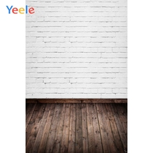 Yeele White Photographic Backgrounds Brick Wall Portrait Cloth Show Photocall Wood Floor Photography Backdrops for photo studio 12ft vinyl cloth dark old brick wall wood floor photo studio backgrounds for model newborn portrait photography backdrops f 257