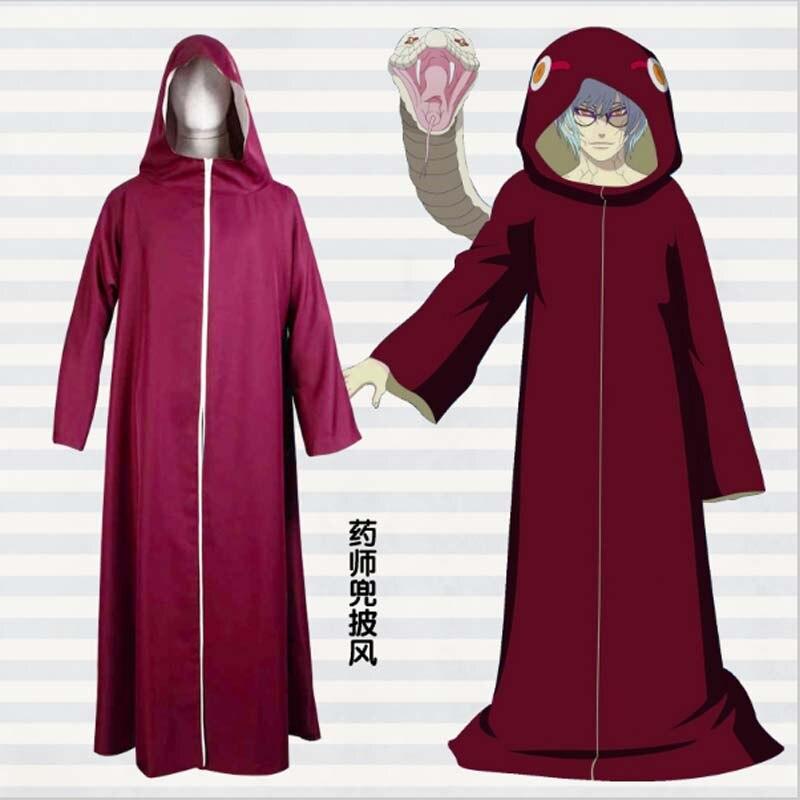 Yakushi Kabuto Cosplay,2017 New Anime Naruto Yakushi Kabuto Cosplay Costume Cape Cloak Jacket Coat Cosplay Costume Free Shipping