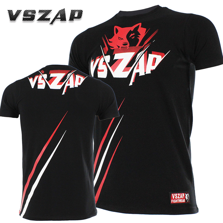 MMA Muay Thai Short Sleeve VSZAP Authentic Mma  Taekwondo  Fitness Breathable Exercise Fighting T-shirt
