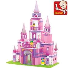 Sluban B0152 learning/education Princess series Castle Building Block Set Girls Bricks Gift legeod Bringuedos