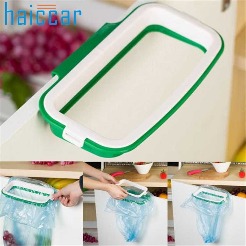 New HAICAR Hanging Kitchen Cabinet Door New Style Garbage Stand Garbage Storage Bags Rack m10