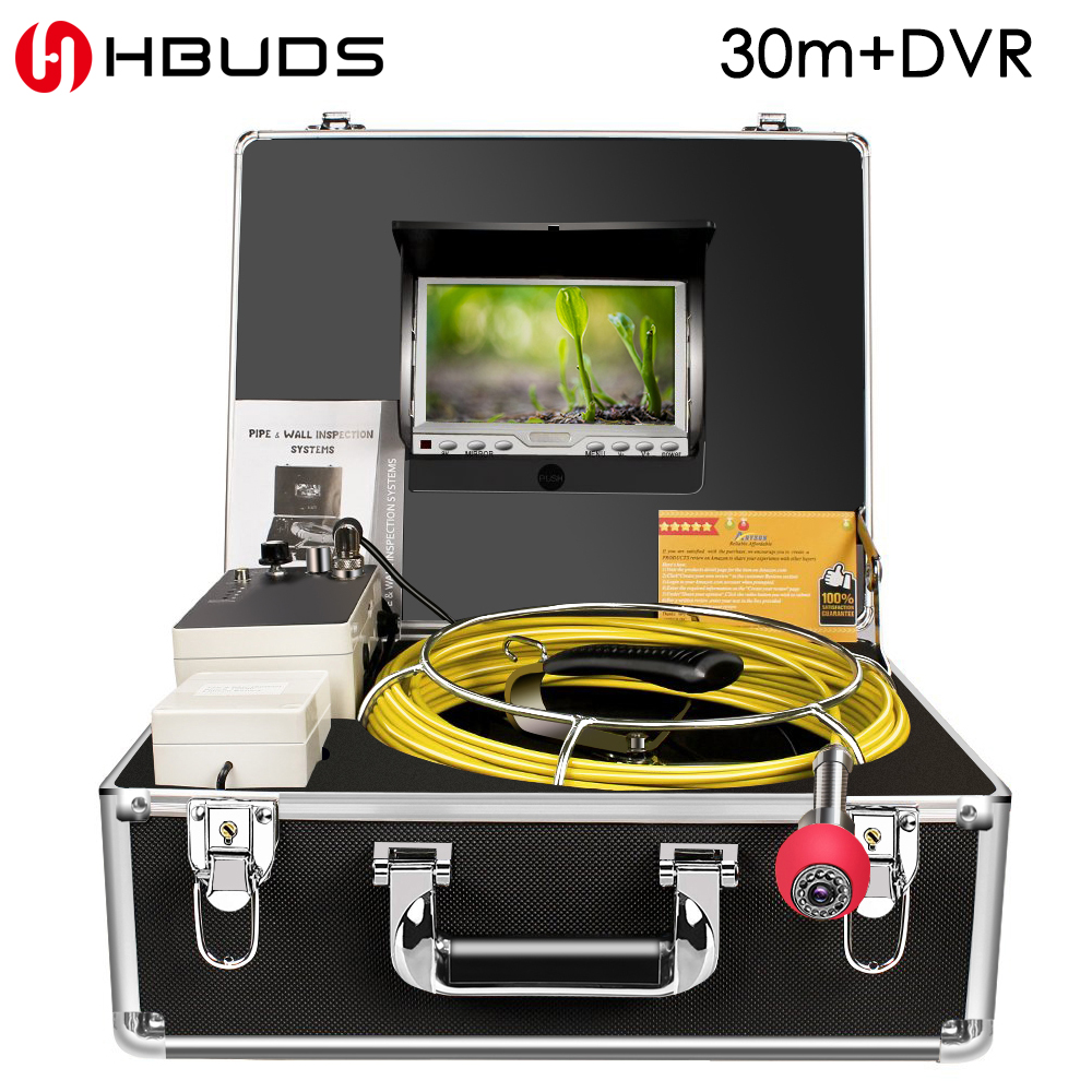 HBUDS 7 Wireless WiFi 30M Pipe Inspection Video Camera,Drain Sewer Pipeline Industrial Endoscope support Android/IOS Sony CCDHBUDS 7 Wireless WiFi 30M Pipe Inspection Video Camera,Drain Sewer Pipeline Industrial Endoscope support Android/IOS Sony CCD