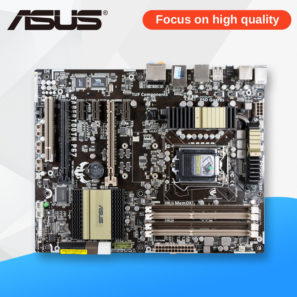 Asus SaberTooth P67 Desktop Motherboard Not Include Thermal Armor P67 LGA 1155 DDR3 32G ATX On Sale