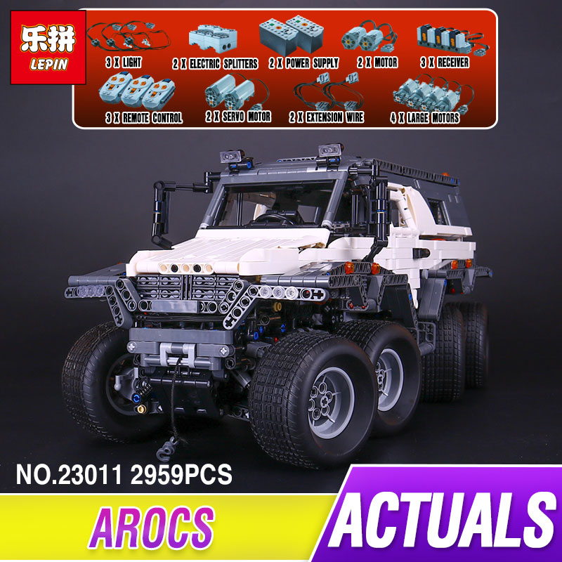 LEPIN 23011 Genuine New 2959Pcs Technic Series Off-road vehicle Model Educational Building Kits Block Bricks Compatible Toys new lepin 22001 pirate ship imperial warships model building kits block briks toys gift 1717pcs