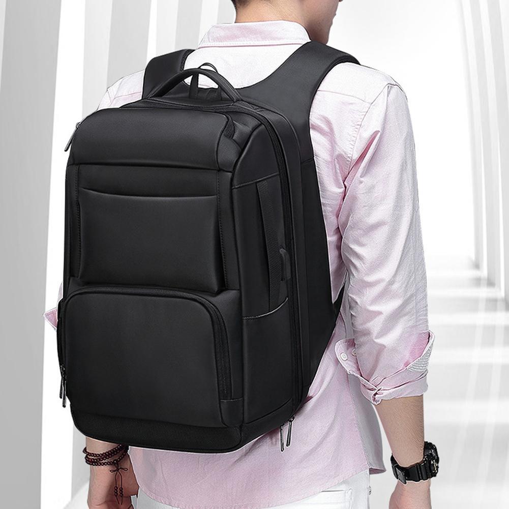 Hommes voyage grande capacité Anti-voleur sac à dos ordinateur portable sac à bandoulière avec Port USB