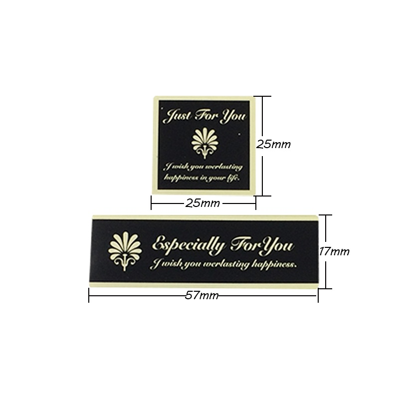 Купить с кэшбэком 110Pcs/lot 'Especially For You' Black Yellow Seal Sticker Kraft Paper Material Sticker DIY Multifunction Handmade Gift Sticker