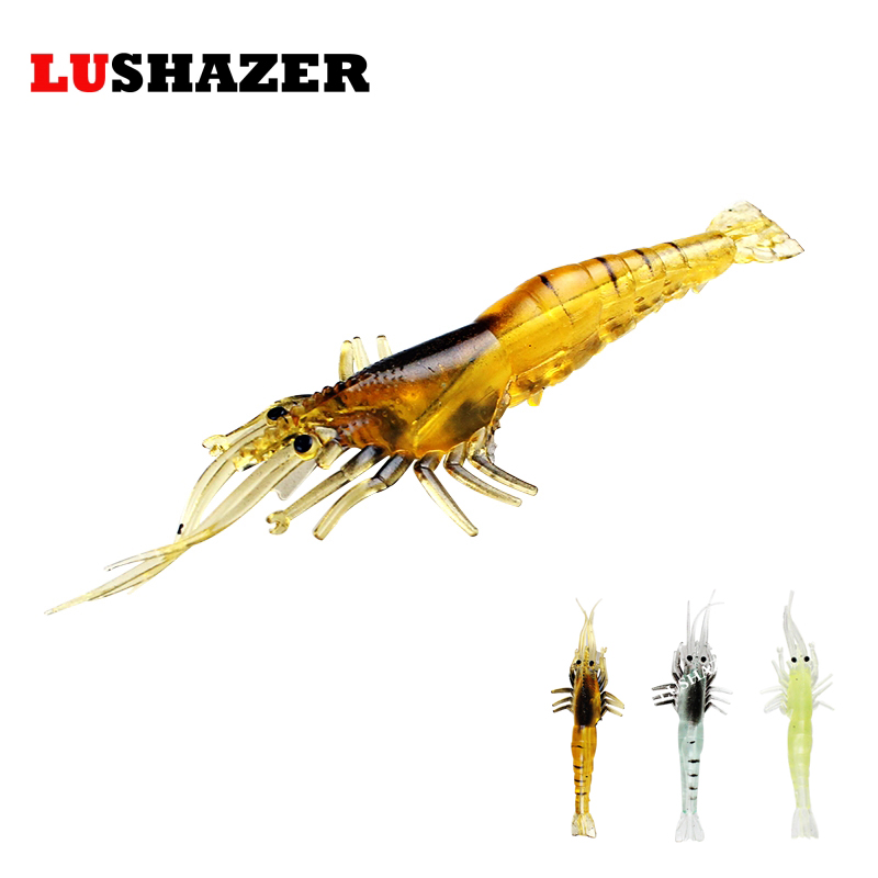 LUSHAZER 5pcs/lot shrimp soft fishing baits 3.5g 10cm peche carp fishing wobblers pesca silicone bait leurre free shipping 5 pcs lot 6 5cm 2g worm soft lures fishing pesca fish peche wobblers tackle leurre souple isca artificial soft baits carp yr 156