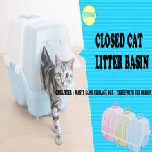 Safe Plastic Large Indoor Durable High Quality Cat Toilets Resistant Bite Durabilidad Cats Litter Cat Tools Pet Supplies 80Z1949