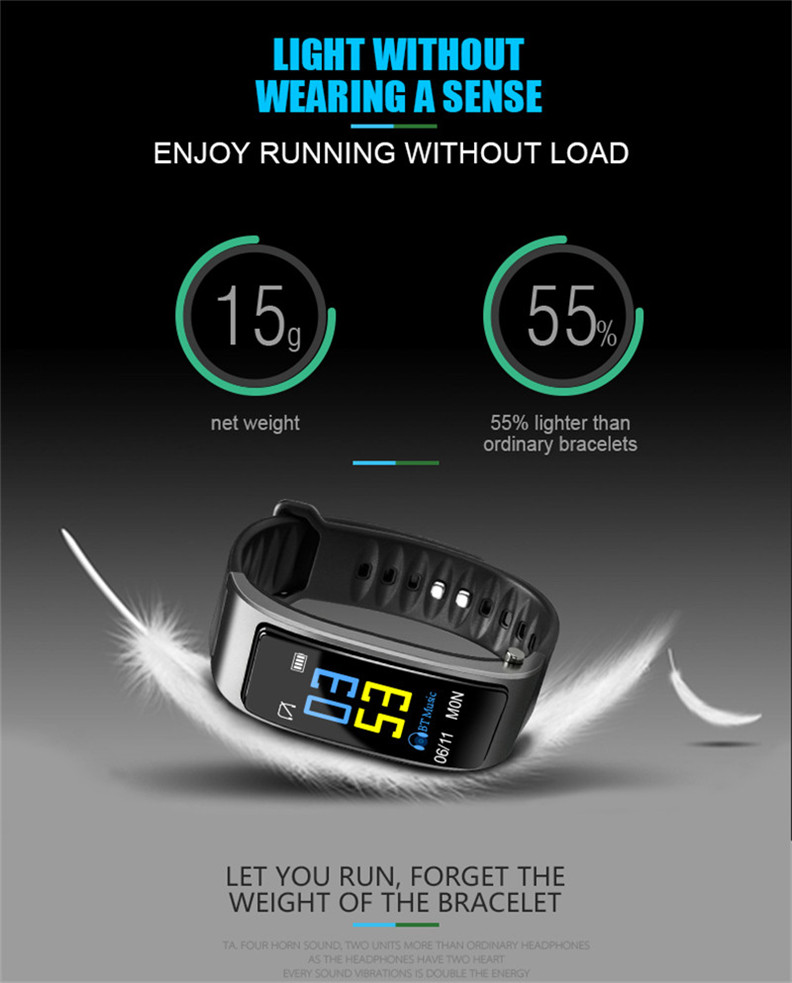 Y3 Color Bluetooth Headset Talk Smart Band Bracelet Heart Rate Monitor Sports Smart Watch Passometer Fitness Tracker Wristband 16