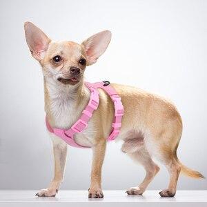 Image 2 - Dog Harness Đối Với Chó Nhỏ Chihuahua Yorkie Ajustable Da Mềm Mại Vật Nuôi Puppy Khai Thác Vest Màu Hồng Petshop