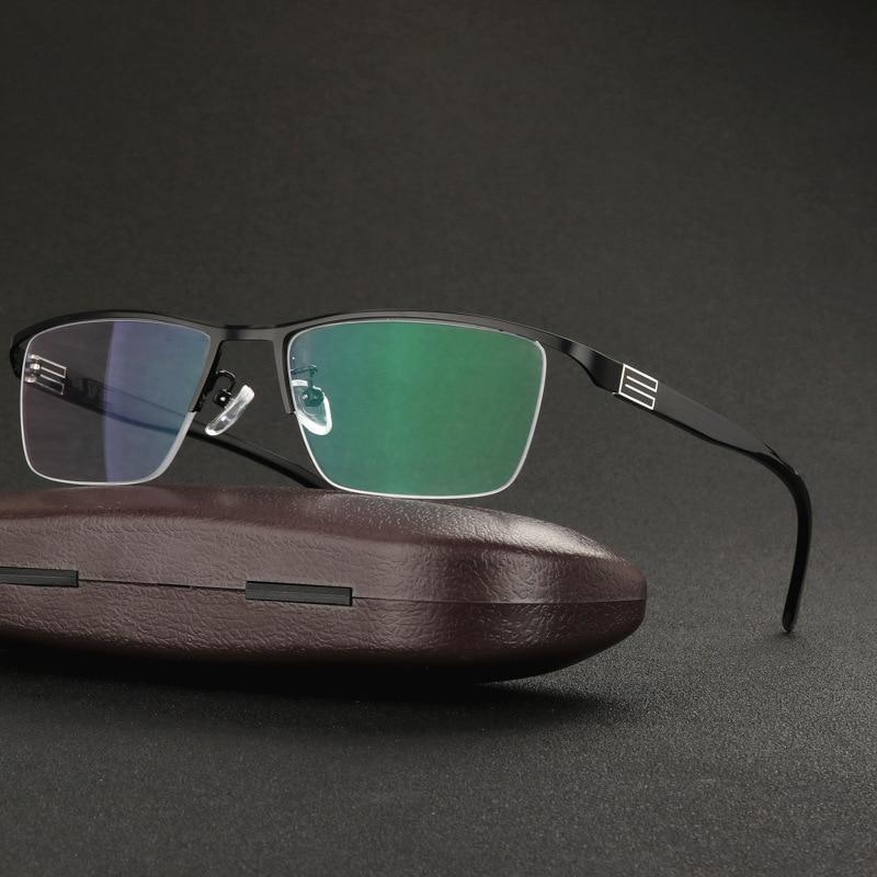Image 2 - Mens Business Intelligent Discoloration Presbyopic Glasses Metal Alloy Plate Glasses Photochromic Presbyopic Myopia GlassesMens Eyewear Frames   -