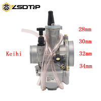 ZSDTRP Modified Keihi PWK 28 30 32 34mm Carburetor Motorcycle 4T Engine Carburador With Power Jet For Motocross Racing Motor