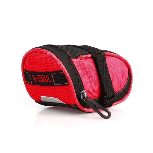 B-SOUL Portable Waterproof Bike Saddle Bag Cycling Seat Pouch Bicycle Tail Bags Rear Pannier Cycling Small Seat Bike Bag